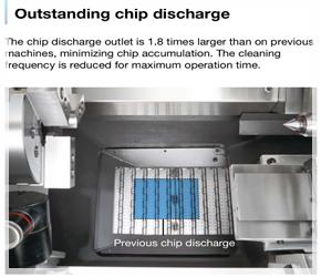 เครื่องกลึง CNC ซีรี่ GENOS ที่ได้รับความนิยมสูงสุดในไทย Lathe-Chip-Conveyor