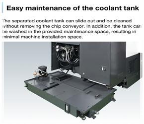 เครื่องกลึง CNC ซีรี่ GENOS ที่ได้รับความนิยมสูงสุดในไทย New-GENOS-Coolant-Tank